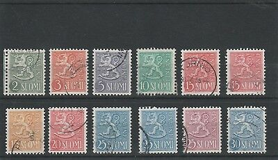 Finland - 1954 -  Assorted Definitives - Fine Used Stamps