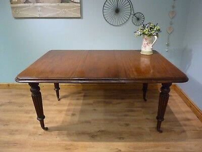 Antique Vintage Victorian Mahogany Wind Out Dining Table 4ft 5ft No Chairs