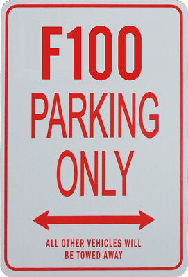 F100 Parking Only - Miniature Fun Parking Sign