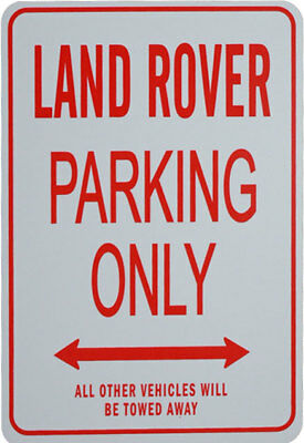 Land Rover Parking Only - Miniature Fun Parking Sign