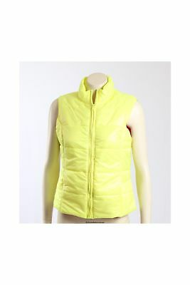 NEW Jenni -Size M/12- Bright Yellow Vest with Hot Pink Lining -
