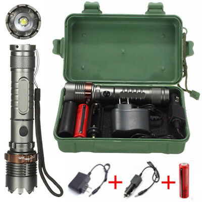 Taschenlampe T6 20000LM LED Zoomable Flashlight Torch Lamp Angriff Kopf Fackel