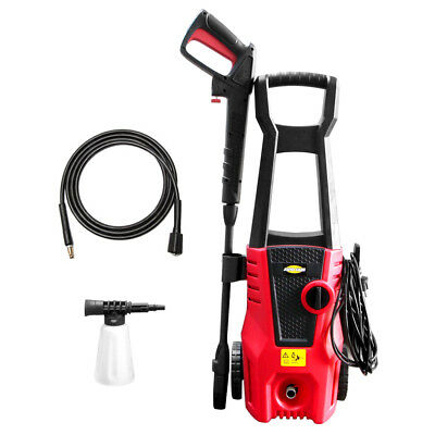 High Power Electric Pressure Washer Cold Water 1400W 1600PSI 1.32GPM Hose Nozzle