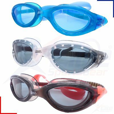 Zoggs Swimming Goggles - Panorama Adults Mens / Womens - UV Blue/Red/Clear