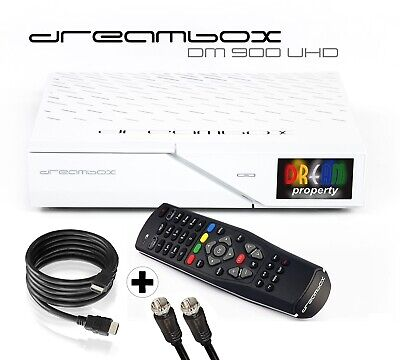Dreambox DM900 Ultra HD 4K E2 Linux PVR Sat Receiver TWIN DVB-S2 Dual Tuner weiß