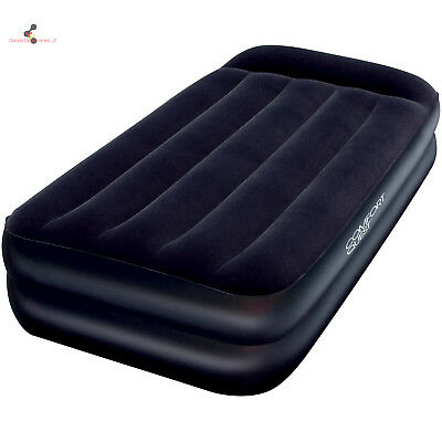 Twin Size Air Mattress Intex Inflatable Raised Downy Airbed Bed