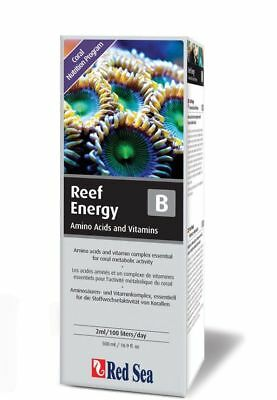 RED SEA REEF ENERGY A or B AMINO ACIDS & VITAMINS CORAL NUTRITION PROGRAM 500ML
