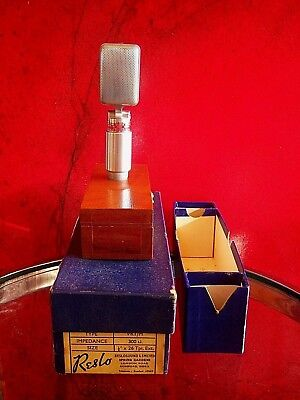 Vintage 1960's Reslo VRT/M ribbon microphone old used British w box The Beatles