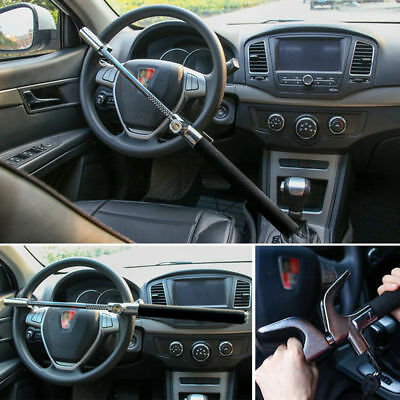 Car Steering Wheel Lock Vehicle Security Anti Theft Device Adjustable Clamp