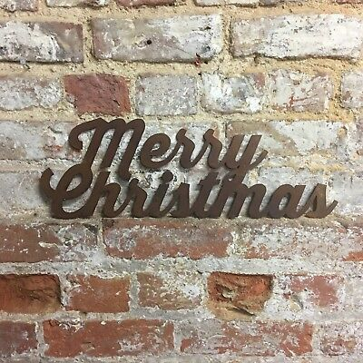 Rusty MERRY CHRISTMAS Lettering Letters Sign Metal Shop Home bar Pub decoration