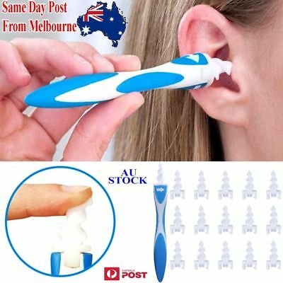 Smart Ear Wax Cleaner Removal Smart Swab Earwax Remover Spiral Safe Soft Tool OZ