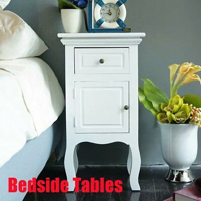 Pair Of Wooden Bedside Chest Side Table Nightstand 2 Drawers Cabinet Bed Bedroom