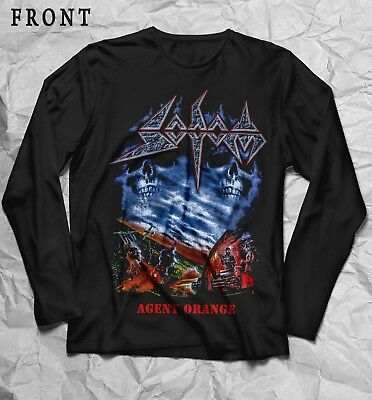 SODOM-Agent Orange-thrash metal band-Kreator,T-shirt long sleeve-sizes:S to XXL