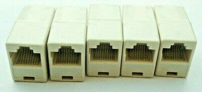 5x RJ45 Cat5 Cat5e CAT6 Inline Coupler / Joiner / Cable Extender BRAND NEW