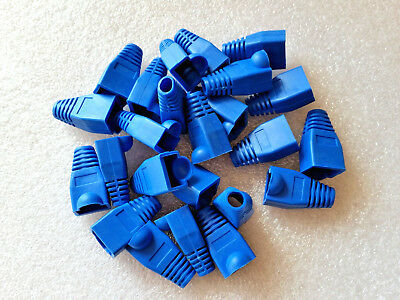 BLUE Boots Covers for RJ45 Modulator Connectors Plugs ** In stock in Melbourne *