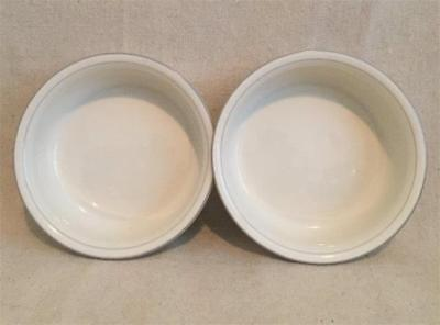 """2 Soup Cereal Bowls """"For The Grey"""" Pattern 6-1/4"""" Lenox Chinastone Made in USA"""