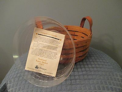 1993 Longaberger Heartland Button Basket with Protector