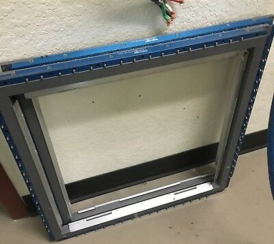 "QTS Engineering 20x20"" wizard frameless stencil screen holder"