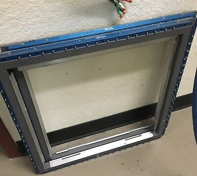 "QTS Engineering 23x23"" wizard frameless stencil screen holder"
