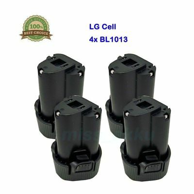 4x Makita Batteria BL1013 BL1014 194550-6 Al litio LG Cell 10,8V 1,5Ah 1500mAh