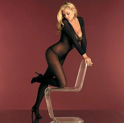 Fantasy Lingerie Women's Sheer Open Crotch Bodystocking Queen size