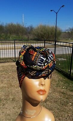 Black And Red DashikHeadwrap;African Headwrap; African Clothing; African Fabric