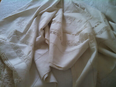 Antique Lace Tablecloth / Embroidered / Tenerife  / Never Used