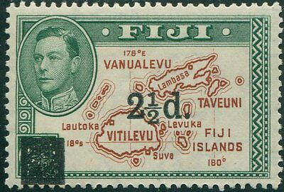 Fiji 1938 SG267 2½d on 2d brown and green Islands KGVI P14 MLH