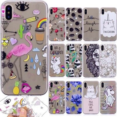 Ultra Thin TPU Clear Pattern Silicone Gel Back Case Cover For Huawei Xiaomi LG