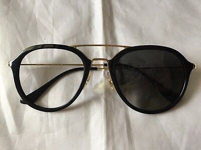 6082dd09f557d NEW RAY BAN Round Sunglasses RB2180 601 71 49mm Black Frame Green ...