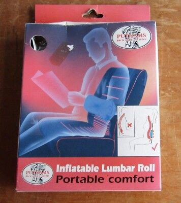 Putnams Inflatable Lumbar Roll Back Support Adjustable New Old Stock - Bargain