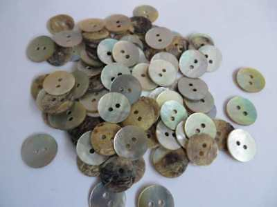 Job lot of 50 cream mother of pearl real shell buttons 2 hole, 12mm