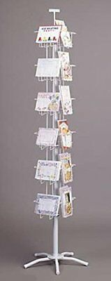 "24 Pocket Combo 5"" X 7 & 7 X 5 Greeting Card Spinner Floor Display Rack (White)"