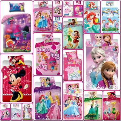 Disney Marvel Lego Girls Character Kids Bedding Single Double Duvet Cover Set