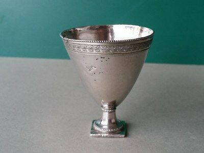 ANTIQUE & ORIGINAL OTTOMAN STERLING SILVER Coffee Cup ZARF WITH TUGRA 19th cen.