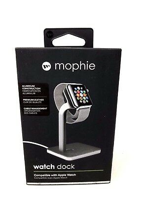 Mophie Charge Dock For all Apple Watch Models Aluminium Construction & Leather