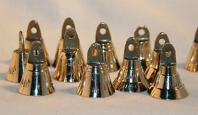BRASS BELL Set  1 Inch Tall Musical 6 Piece SET Made In India
