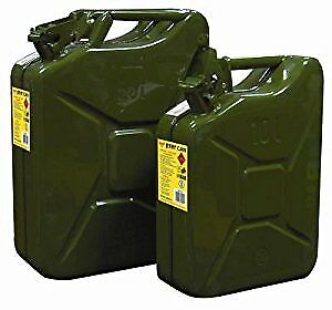 20 Litre Heavy Duty Green Metal Jerry Can For Fuel