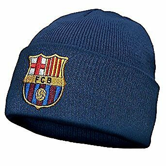 FC Barcelona Official Football Gift Knitted Bronx Beanie Hat Crest
