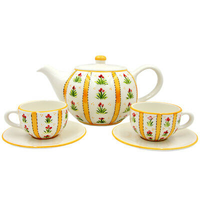 Hand Painted Ceramic Tea Set Made in Portugal