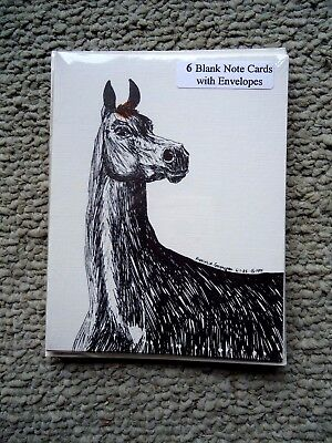 Proud Arabian Horse 18 Blank Notecards with Linen Style Envelopes New
