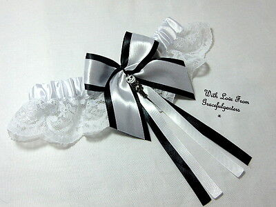 Jack Nightmare before Christmasl Lace Bridal Wedding Garter. Sally