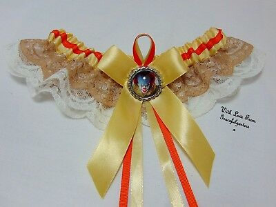 Halloween Clown Lace Bridal Wedding Garter.