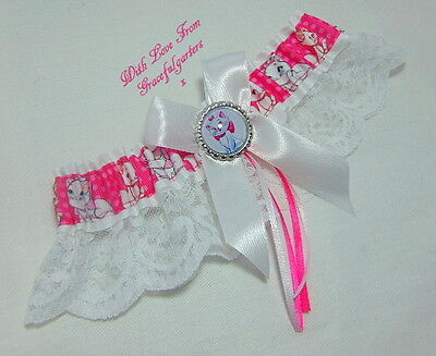 Disney Aristocats Marie Lace Bridal Wedding Garter.