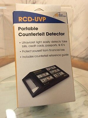 Royal Sovereign RCD-UVP Portable Ultraviolet Counterfeit Detector Money Bills