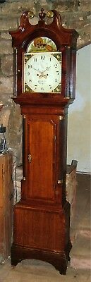 A Georgian Oak, Mahogany & Inlaid Grandfather Clock C1810-30