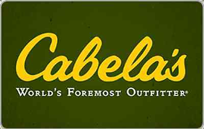 Cabela's Gift Card -$15 $25 $50 or $100 - Email delivery