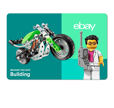 Because You Love Building  - eBay Digital Gift Card $15 to $200