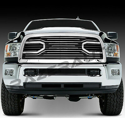 10-17 Dodge RAM 2500+3500 Big Horn Chrome Front Package Grille+Replacement Shell