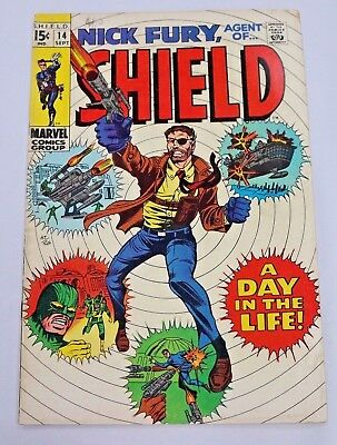 Nick Fury Agent of SHIELD #14 1969 Silver Age Marvel Comics Good Condition